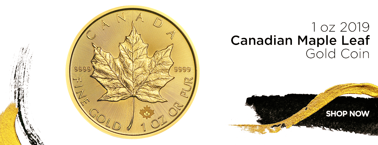 1 oz 2019 Canadian Maple Leaf Gold Coin - Shop Now